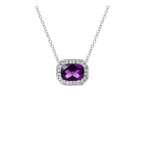 Semi-Precious Gemstone and Diamond Pendant