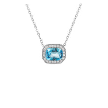 Load image into Gallery viewer, Semi-Precious Gemstone and Diamond Pendant