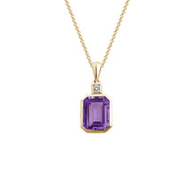Load image into Gallery viewer, Emerald Cut Semi-Precious Gemstone Pendant Necklace