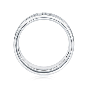 A. JAFFE Spinner Gents Wedding Band