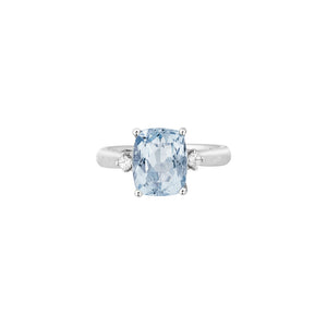Aquamarine and Diamond Ring
