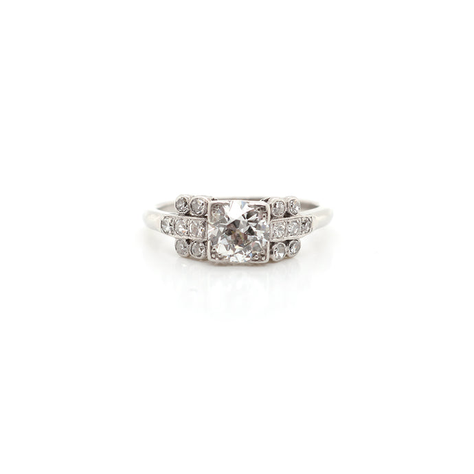 Estate Platinum Old European Cut Diamond Ring