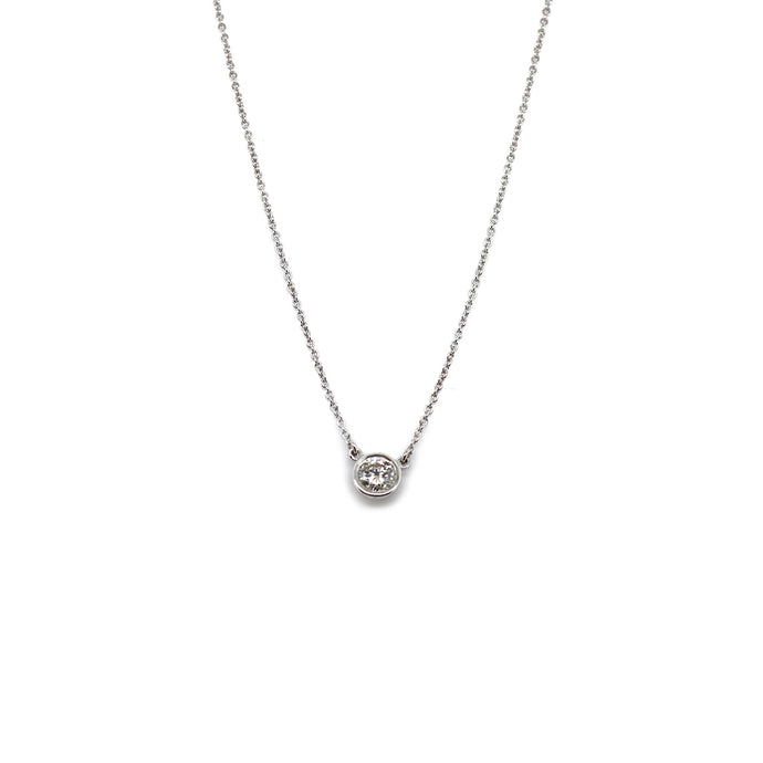 Sterling Silver Diamond Station Pendant 1/4 ct