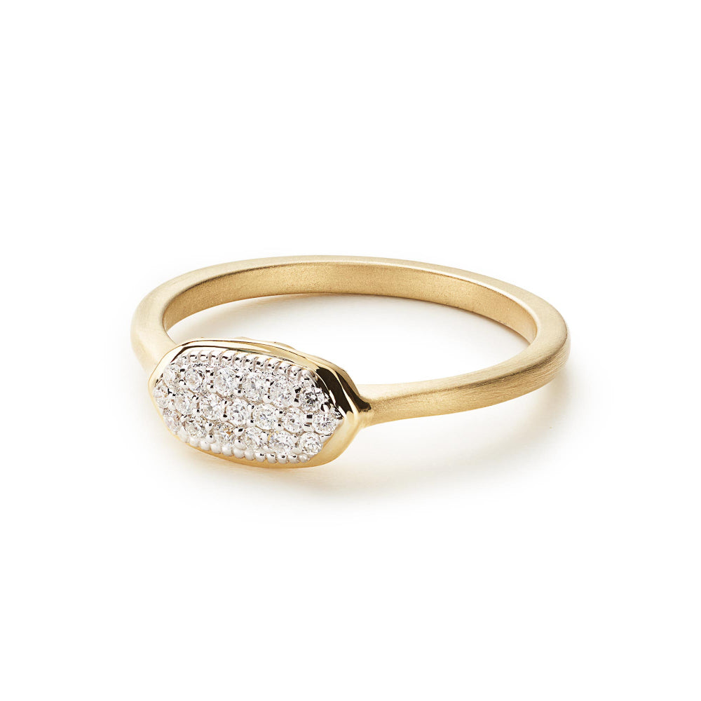 Kendra Scott Isa Ring in White Diamond and 14K