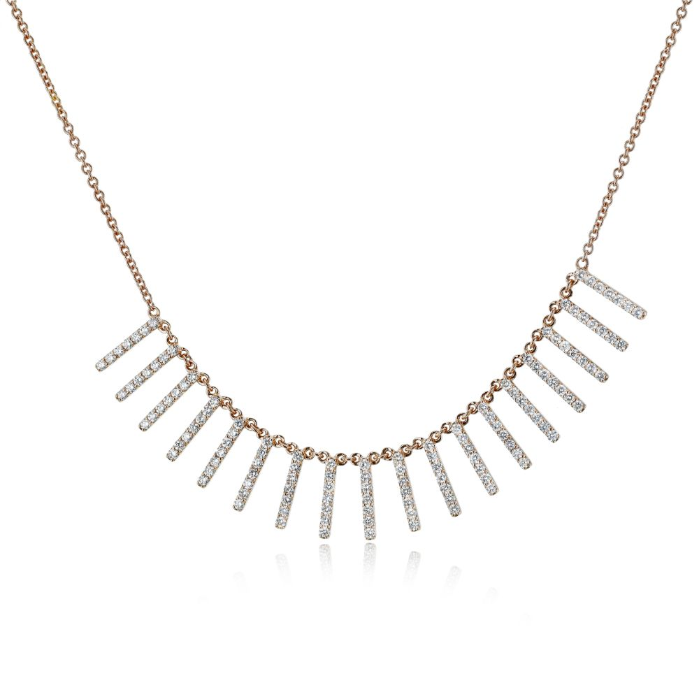 Simon G  Necklace w/Vertical Pave Diamond Bars