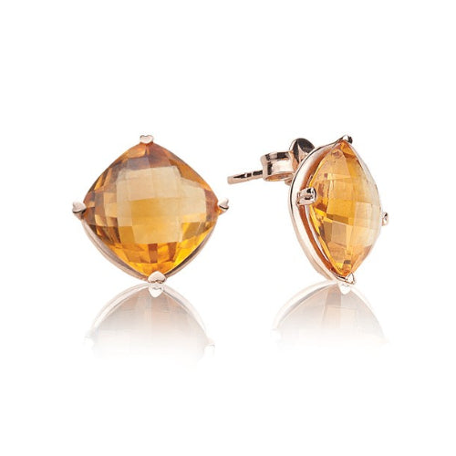 Lisa Nik 18k Rose Gold Citrine Earrings