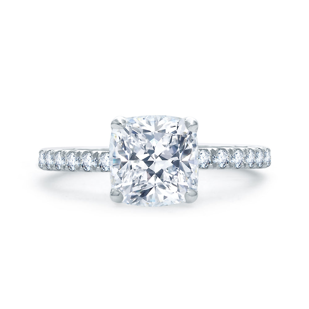 A. JAFFE Quilted French Pavé Engagement Ring