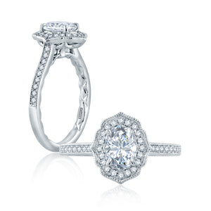 A. JAFFE Classic Engagement Ring