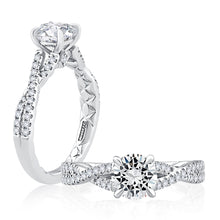 Load image into Gallery viewer, A. JAFFE Criss Cross Shank Engagement Ring