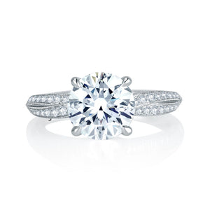 A. JAFFE Crossover Shank Engagement Ring