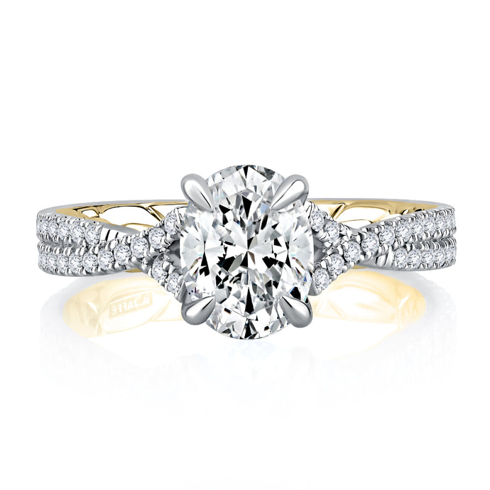A. JAFFE Majestic Signature Engagement Ring
