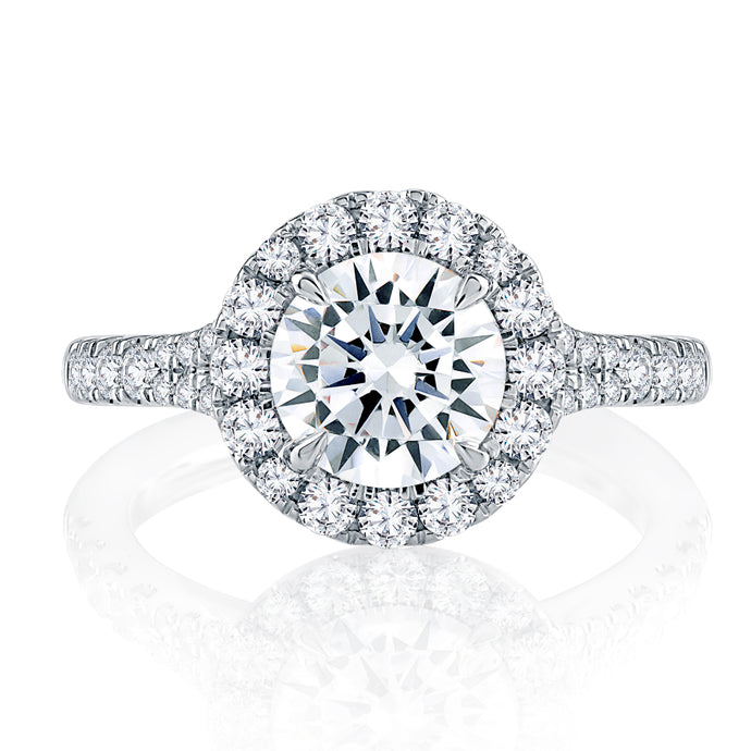 A. JAFFE Modern Halo Engagement Ring
