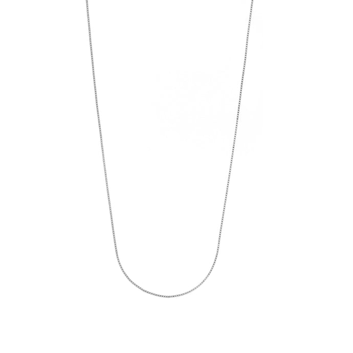 Sterling Silver 0.95mm Box Chain, 20-22 Inches