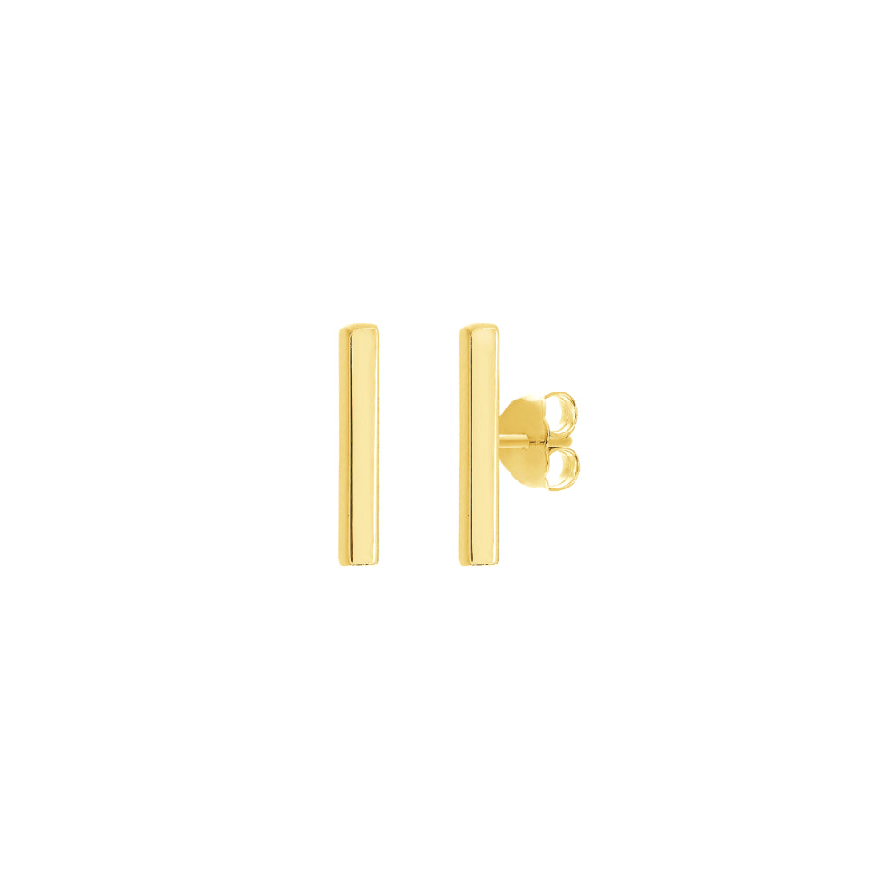 14k Bar Post Earrings