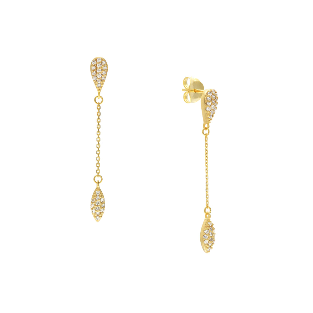 14kt Yellow Gold Diamond Drop Earrings