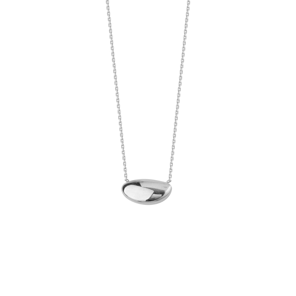 14K White Gold Pendant Necklace