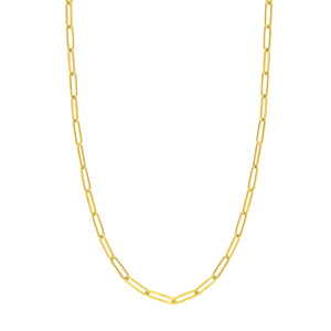 14k Paper Clip 5.0 mm Chain Necklace
