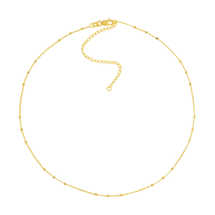 14k Beaded Station Necklace