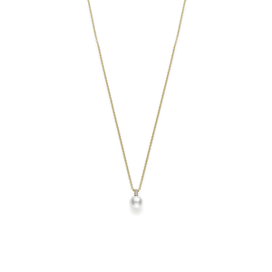 Mikimoto 18kt yellow gold Akoya Pearl and Diamond Pendant