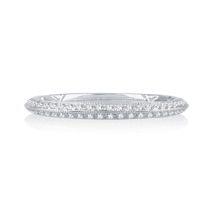 A. JAFFE Knife Edge Pavé Wedding Band