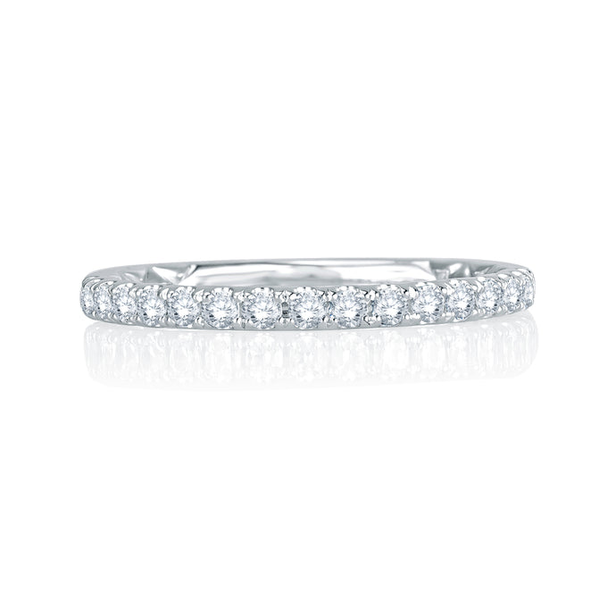 A. JAFFE Intricate Delicate Quilted Wedding Band