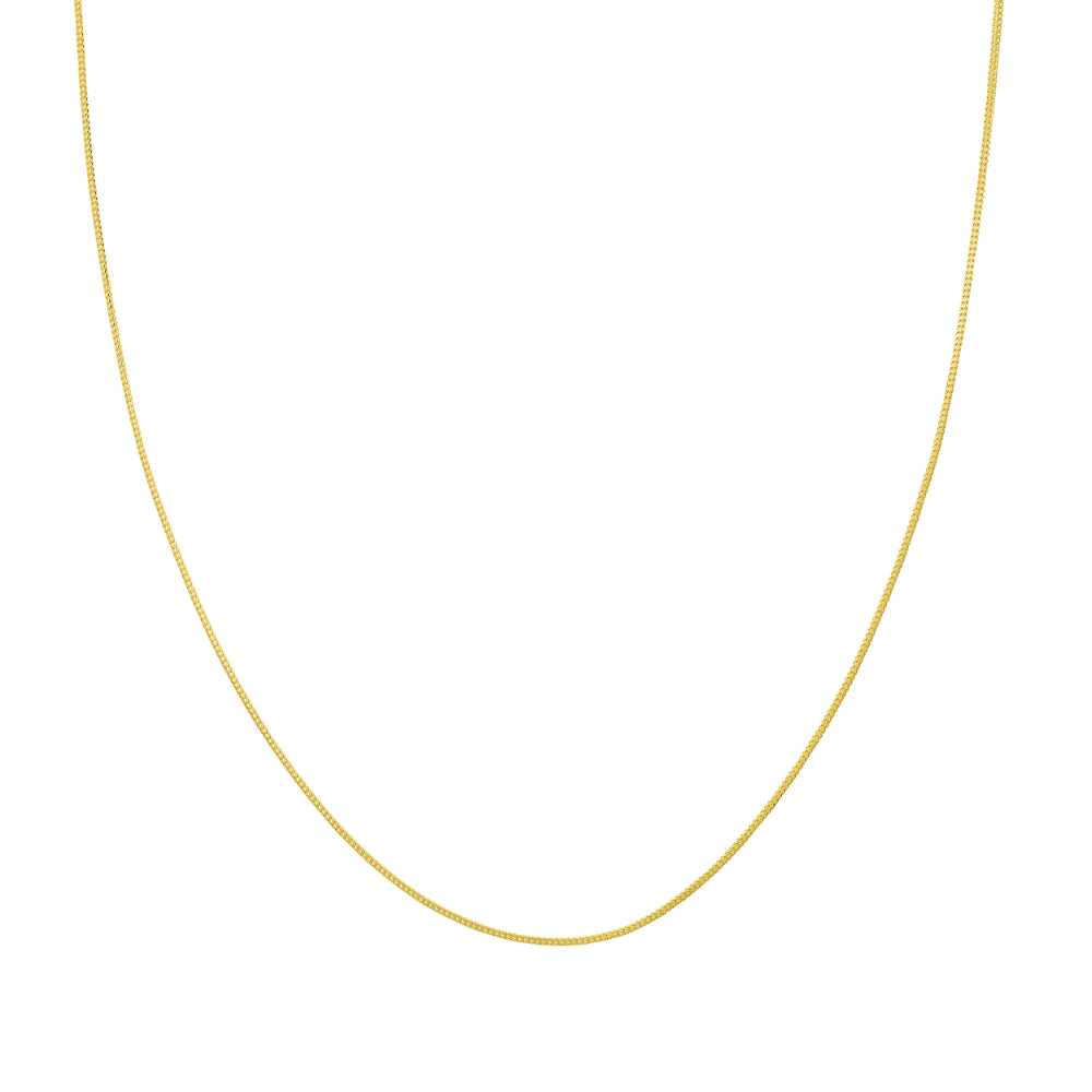 14kt Yellow Gold 1.1mm 20 inch Franco Chain