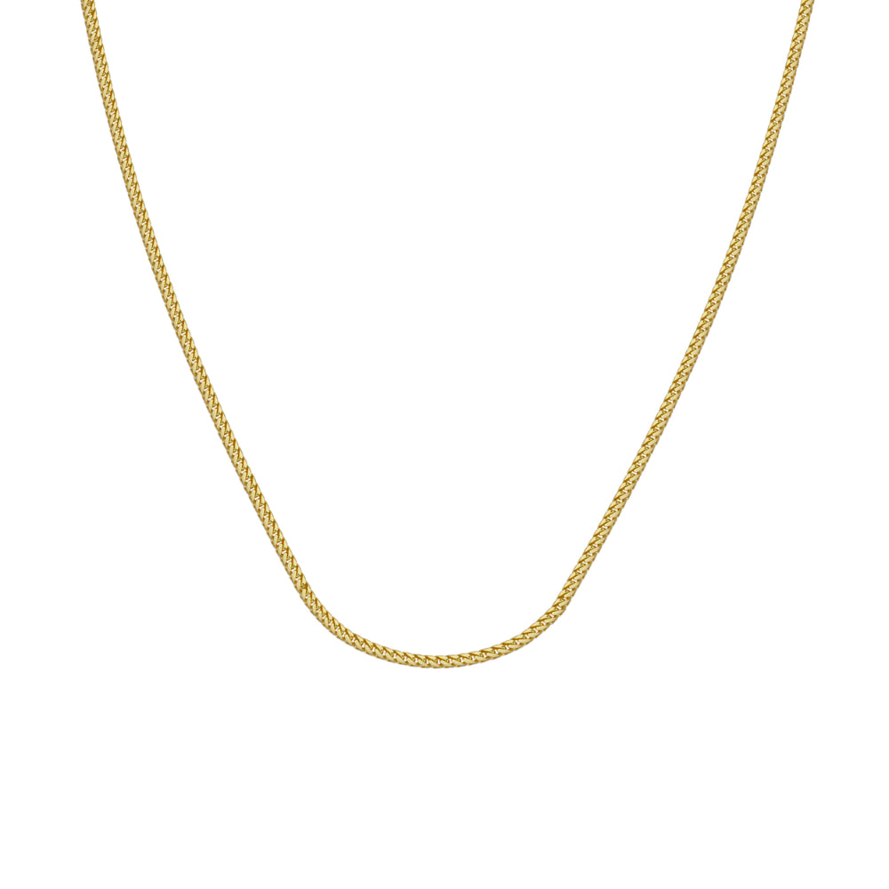 14kt Yellow Gold 1.55mm Franco Chain 20 inches