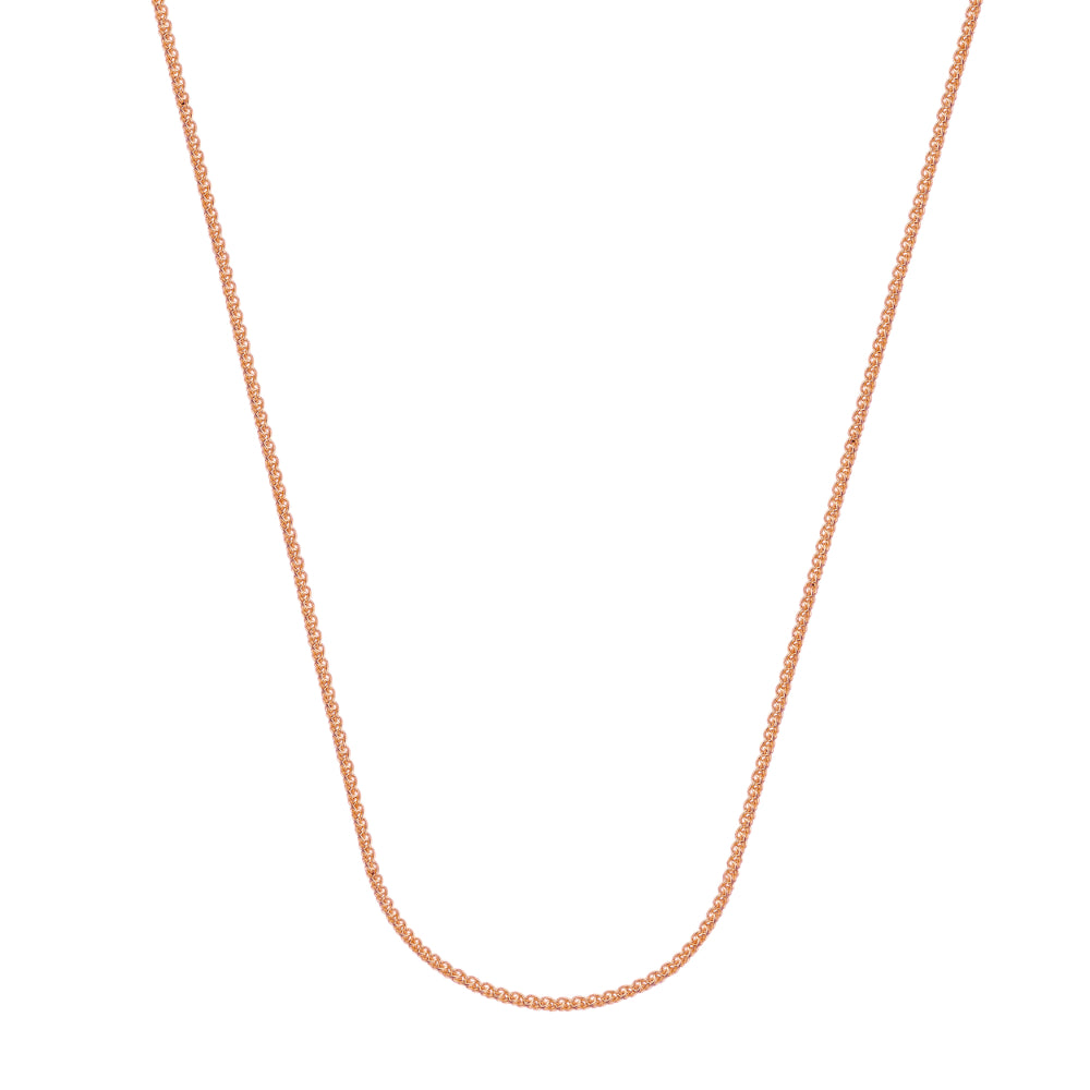 14kt Rose Gold 1.02mm Wheat Chain, 16 inches