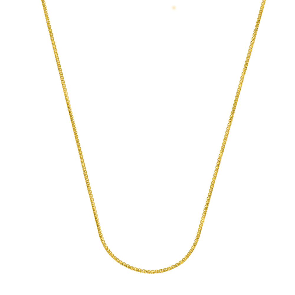 14kt Yellow Gold 1.02mm Wheat Chain, 20 inches