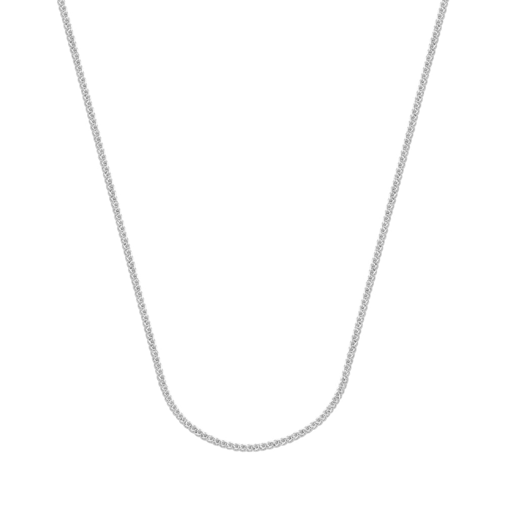 14kt White Gold 1mm Wheat Chain 24 inches