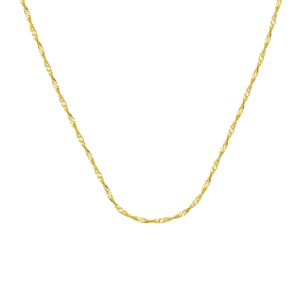14kt Yellow Gold 1.15mm Singapore Chain, 18 inches