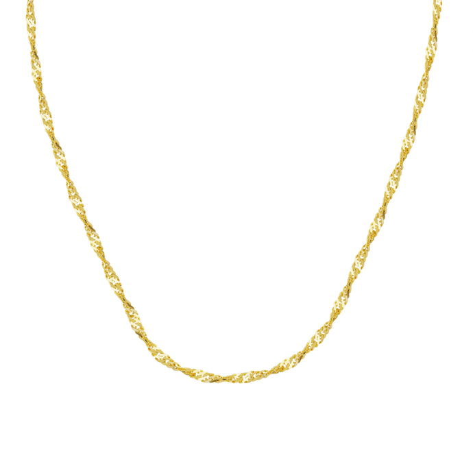 14kt Yellow Gold 1.7mm Singapore Chain, 18 inches