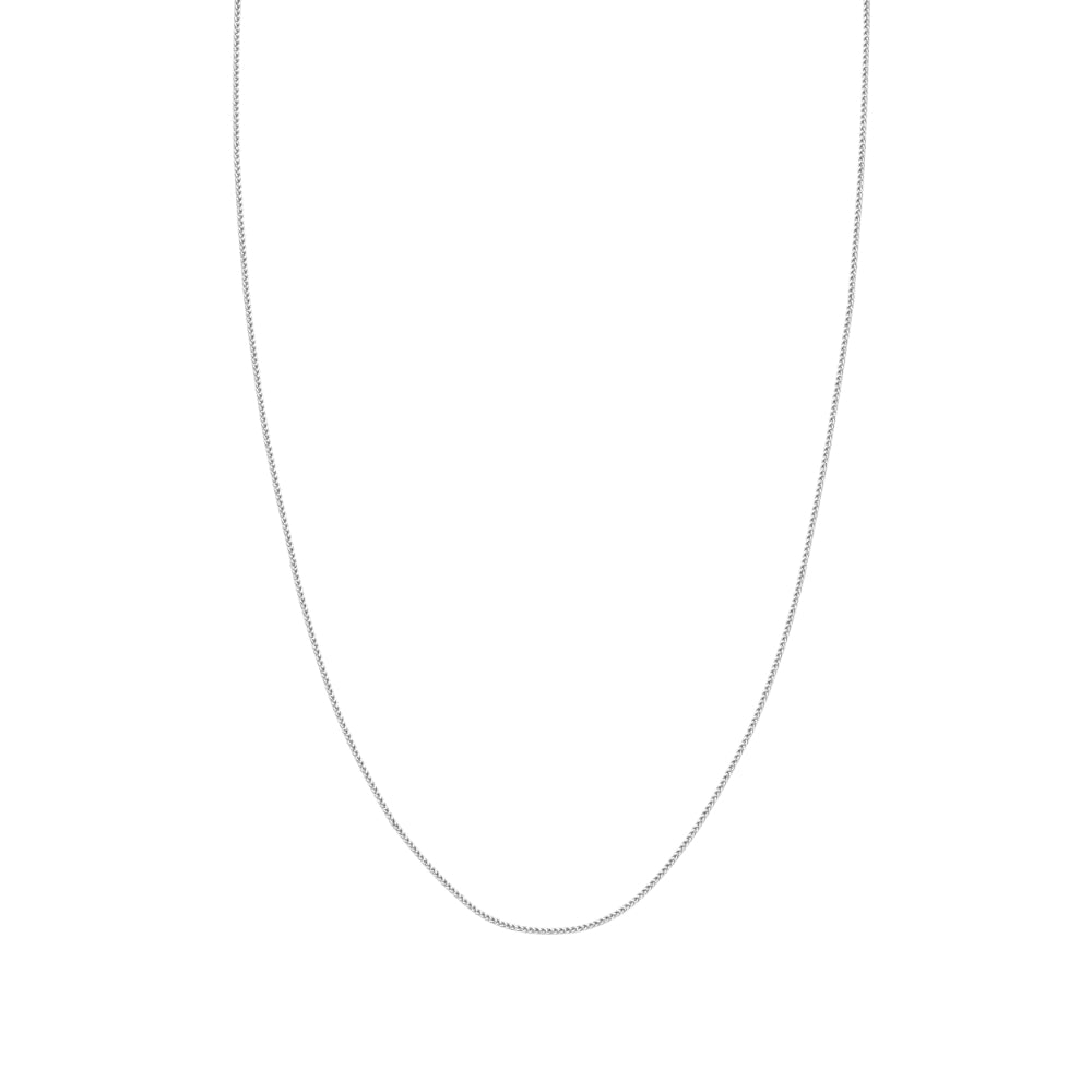 14kt White Gold 1.25mm Wheat Chain, 18 inches