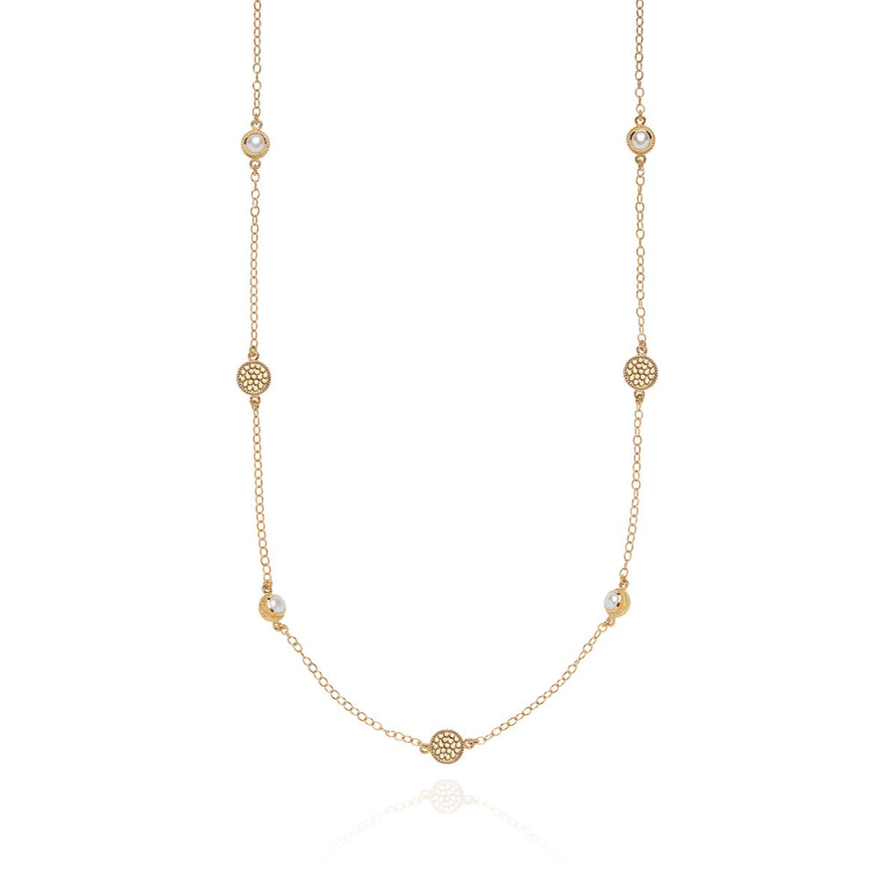 Anna Beck Long Pearl Station Necklace