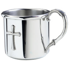 Load image into Gallery viewer, Salisbury Pewter Easton Cross Baby Cup