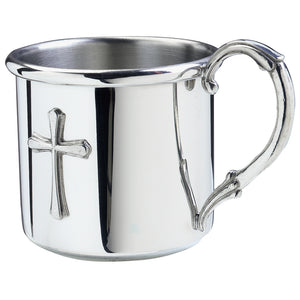 Salisbury Pewter Easton Cross Baby Cup