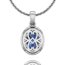 Load image into Gallery viewer, Martin Flyer Oval Sapphire and Diamond Pendant