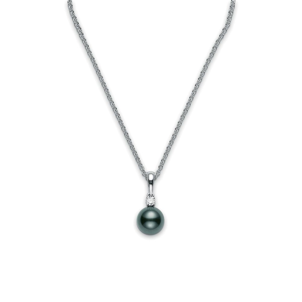 Mikimoto Black South Sea Cultured Pearl and Diamond Pendant