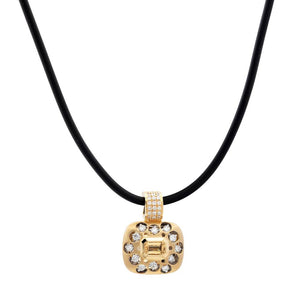 JDS Mirror Collection Citrine and Diamond Pendant