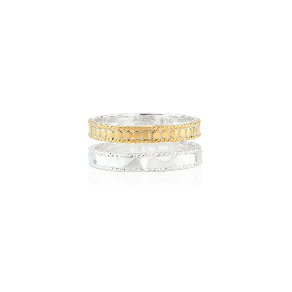 Anna Beck Hammered Double Band Ring