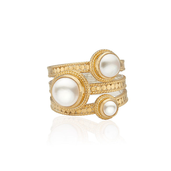 Anna Beck Pearl Faux Stacking Ring