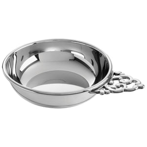 Salisbury Pewter Traditional Handle Baby Porringer