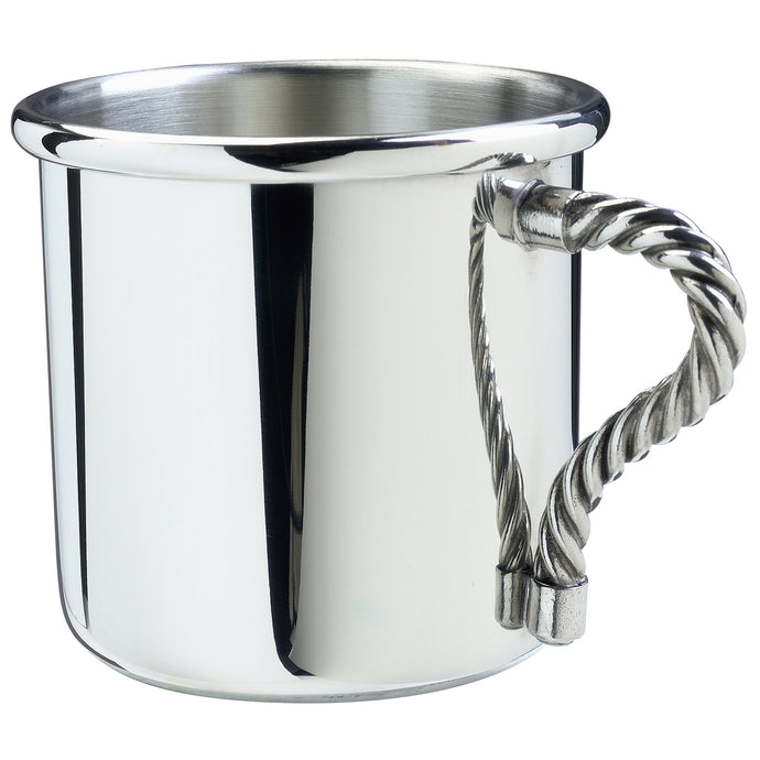 Salisbury Pewter Rope Handle Baby Cup