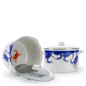 Golden Rabbit Blue Crab Stock Pot