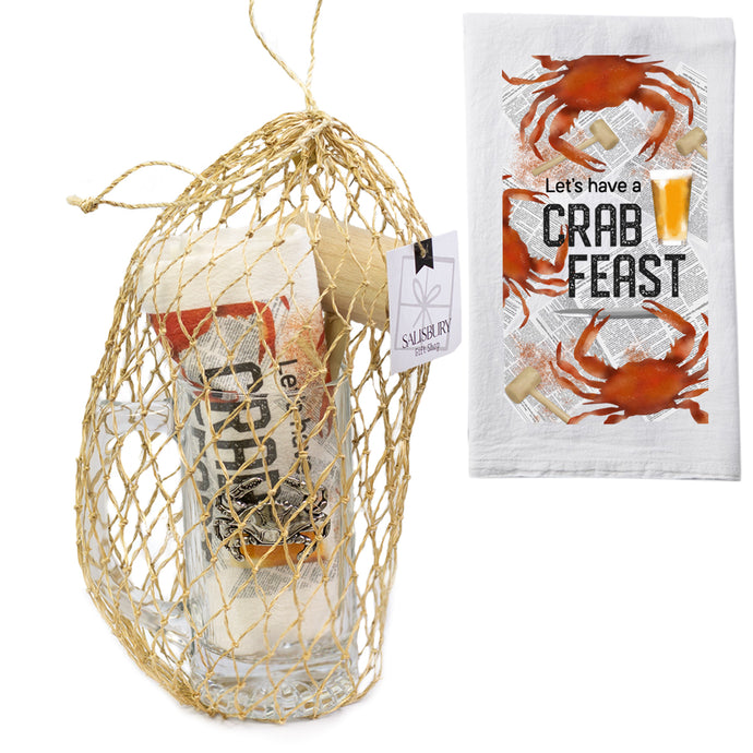 Salisbury Pewter Crab Feast Towel & Tankard Gift Set