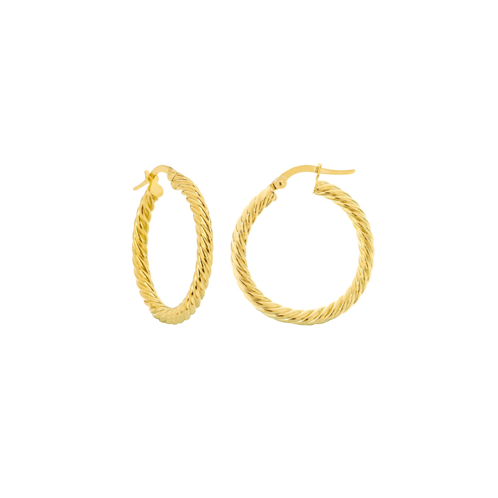 14k Twisted Rope Hoop Earrings