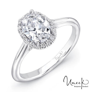 Uneek Classic Halo Engagement Ring