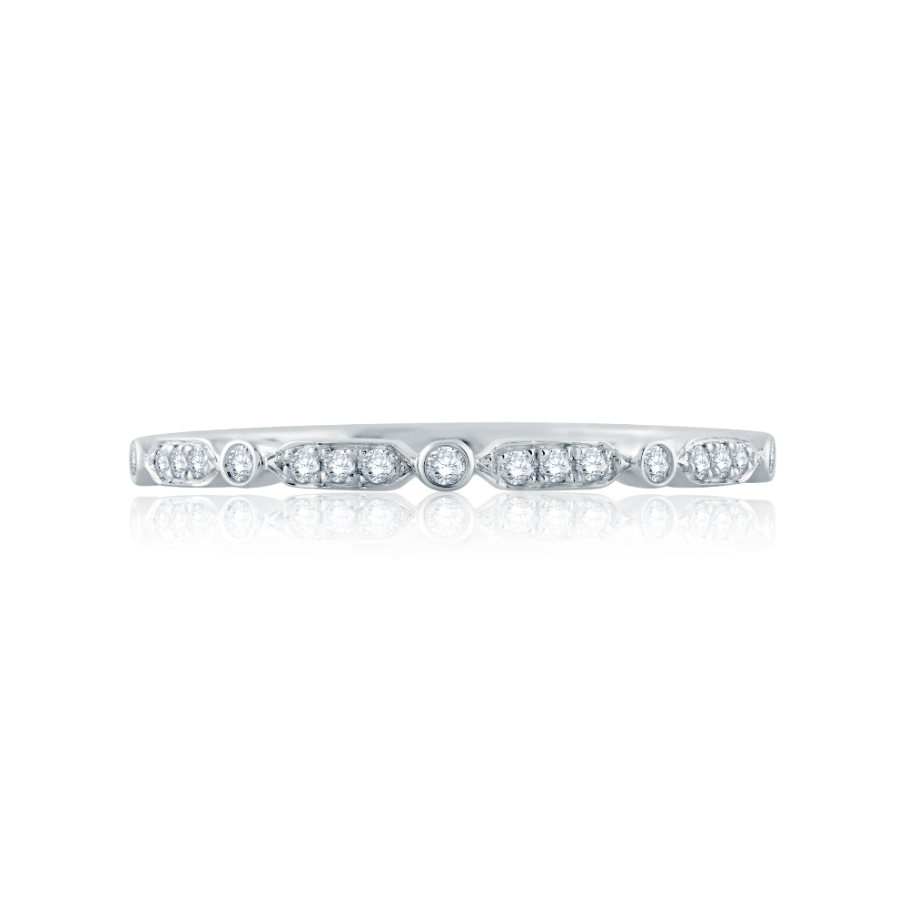 A. JAFFE Triple and Single Set Diamond Stackable Band