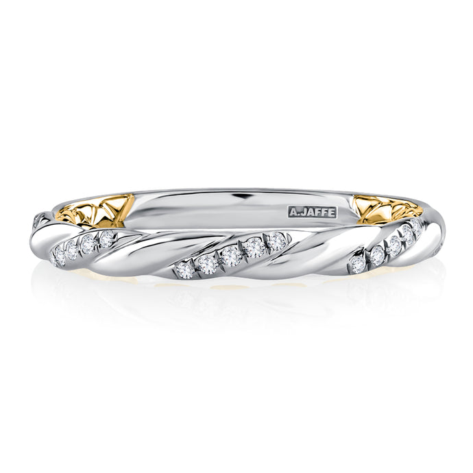 A. JAFFE Twisted Diamond Wedding Band