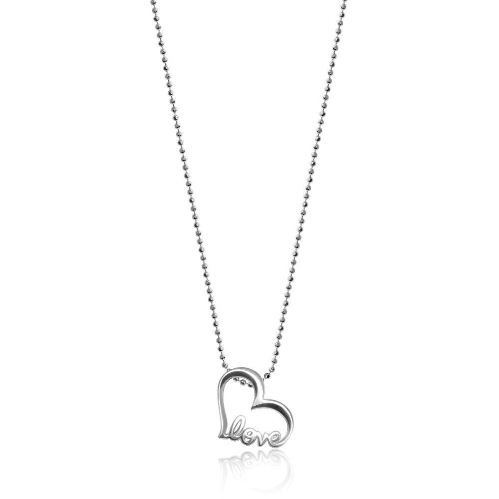 Alex Woo Little Words Love Heart Pendant